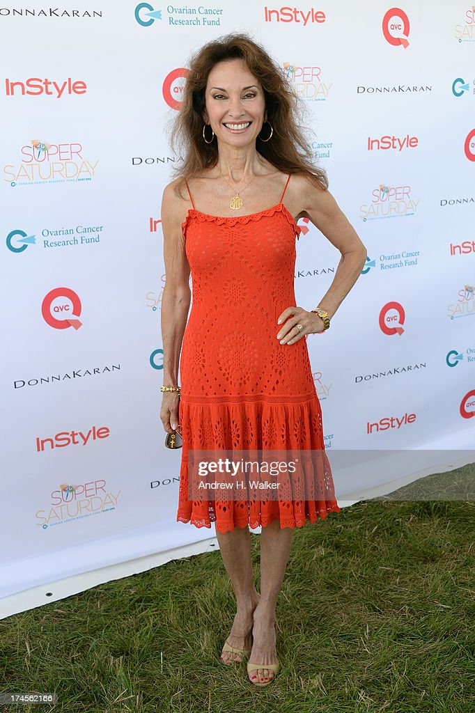 Actress <a gi-track='captionPersonalityLinkClicked' href=/galleries/search?phrase=Susan+Lucci&family=editorial&specificpeople=203010 ng-click='$event.stopPropagation()'>Susan Lucci</a> attends the Ovarian Cancer Research Fund's 16th Annual Super Saturday hosted by Kelly Ripa and Donna Karan at Nova's Ark Project on July 27, 2013 in Water Mill, NY.
