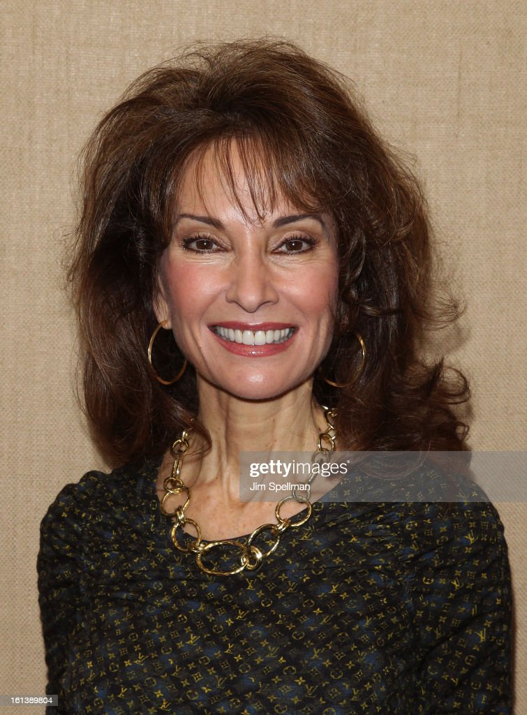 Actress <a gi-track='captionPersonalityLinkClicked' href=/galleries/search?phrase=Susan+Lucci&family=editorial&specificpeople=203010 ng-click='$event.stopPropagation()'>Susan Lucci</a> attends the 'Spontaneous Construction' premiere at Guy?s American Kitchen & Bar on February 10, 2013 in New York City.
