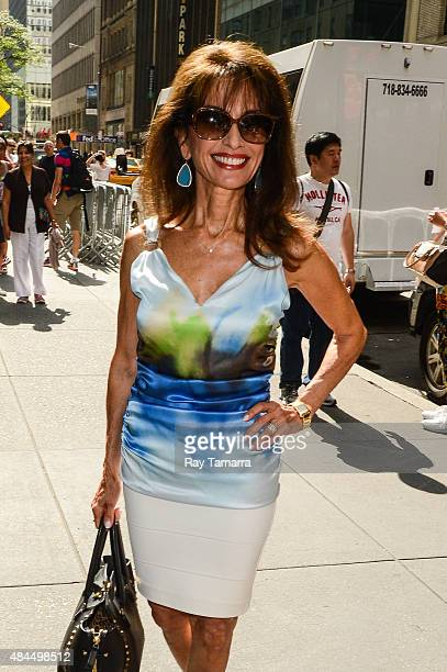 Actress Susan Lucci leaves the 'Today Show' taping at the NBC Rockefeller Center Studios on August 19 2015 in New York City
