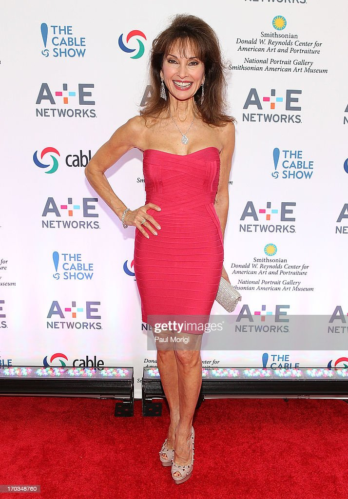 Actress <a gi-track='captionPersonalityLinkClicked' href=/galleries/search?phrase=Susan+Lucci&family=editorial&specificpeople=203010 ng-click='$event.stopPropagation()'>Susan Lucci</a> of Devious Maids arrives at the A+E hosted NCTA Chairman's Reception at Smithsonian American Art Museum & National Portrait Gallery on June 11, 2013 in Washington, DC.