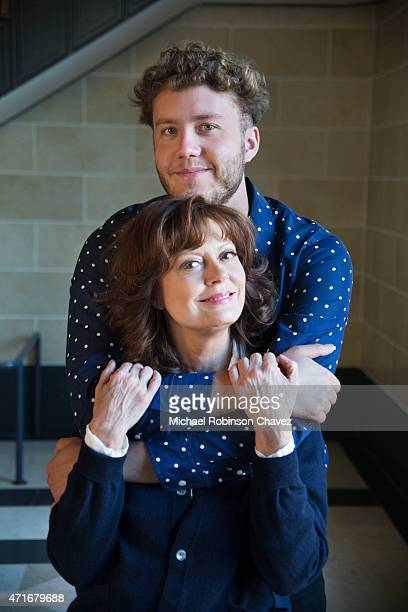 Actress Susan Sarandon and her son Jack Henry Robbins are photographed for Los Angeles Times on April 11 2015 in Los Angeles California PUBLISHED...