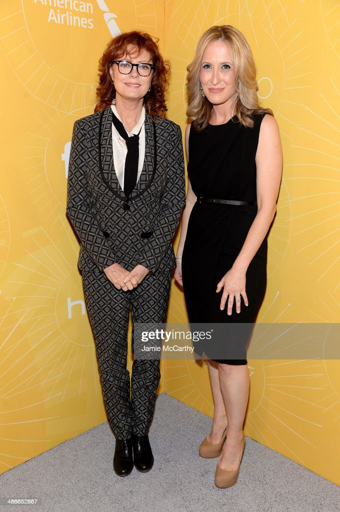 Actress Susan Sarandon (L) and publisher of Variety Michelle Sobrino attend Variety Power Of Women: New York presented by FYI at Cipriani 42nd Street on April 25, 2014 in New York City.