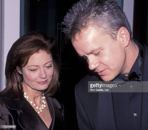 Actress Susan Sarandon and Tim Robbins attend Second Annual AmFAR Hope Awards on November 30 1999 at Pier 60 at Chelsea Piers in New York City