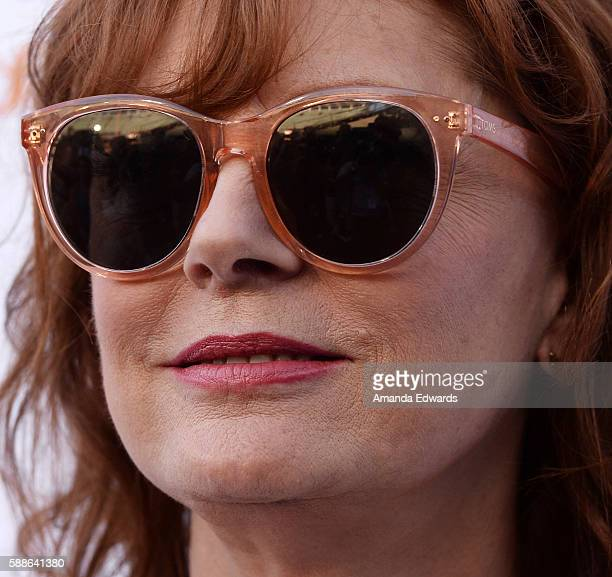 Actress Susan Sarandon arrives at Clayton Kershaw's 4th Annual Ping Pong 4 Purpose Celebrity Tournament at Dodger Stadium on August 11 2016 in Los...