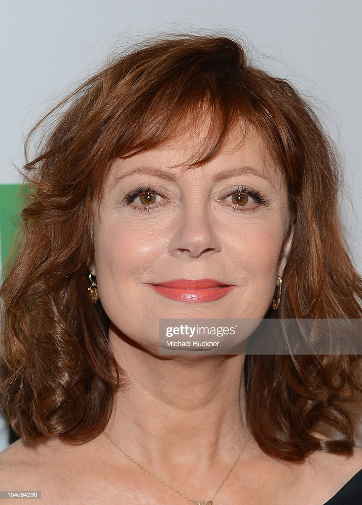 Actress Susan Sarandon arrives at the 16th Annual Hollywood Film Awards Gala presented by The Los Angeles Times held at The Beverly Hilton Hotel on October 22, 2012 in Beverly Hills, California.