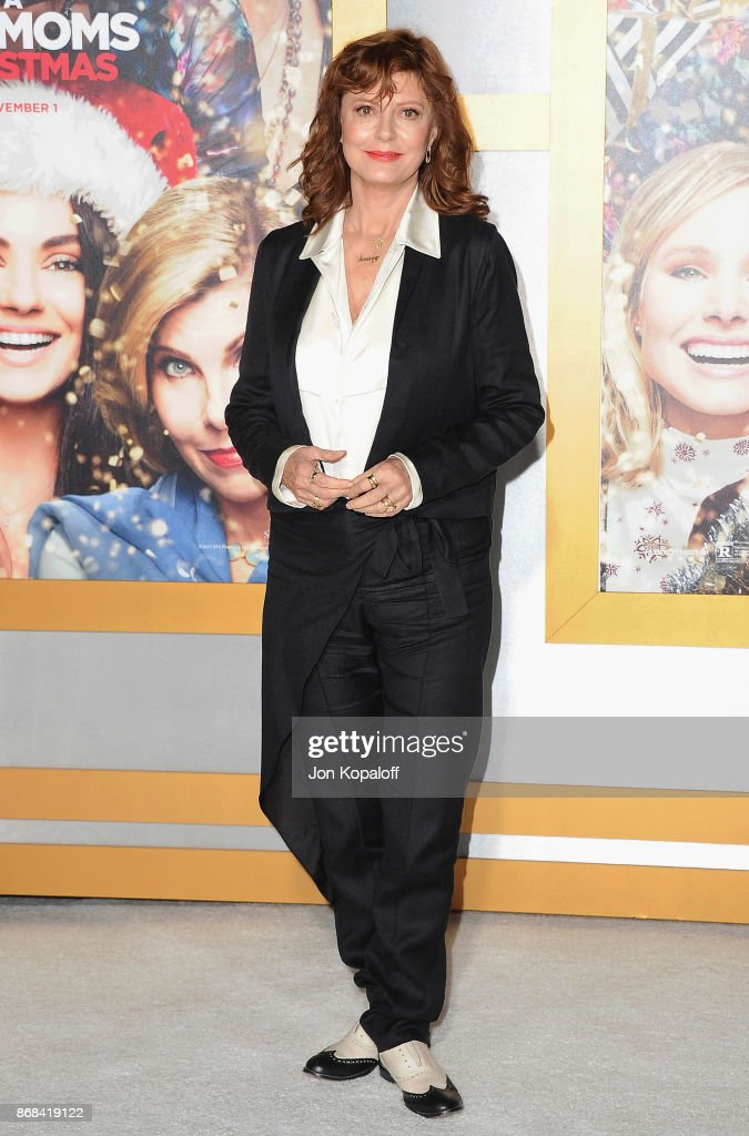Actress Susan Sarandon arrives at the Los Angeles Premiere of 'A Bad Moms Christmas' at Regency Village Theatre on October 30, 2017 in Westwood, California.