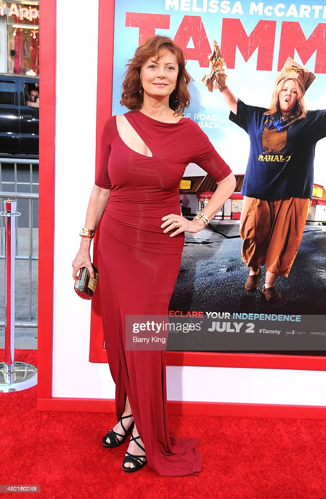 Actress <a gi-track='captionPersonalityLinkClicked' href=/galleries/search?phrase=Susan+Sarandon&family=editorial&specificpeople=202474 ng-click='$event.stopPropagation()'>Susan Sarandon</a> arrives at the Los Angeles Premiere 'Tammy' on June 30, 2014 at TCL Chinese Theatre in Hollywood, California.