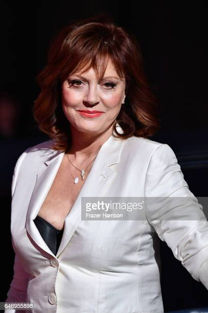 Actress Susan Sarandon arrives at the Premiere of FX Network's 'Feud Bette And Joan' at Grauman's Chinese Theatre on March 1 2017 in Hollywood...