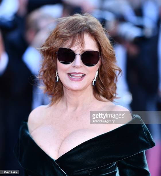 US actress Susan Sarandon arrives for the screening of the film 'Les Fantomes dIsmael' out of competition and the Opening Ceremony of the 70th annual...