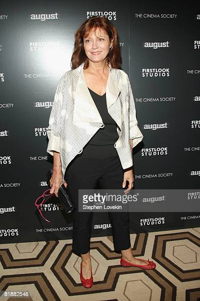 Actress Susan Sarandon attends a screening of 'August' at the Tribeca Grand Screening Room on July 9 2008 in New York City