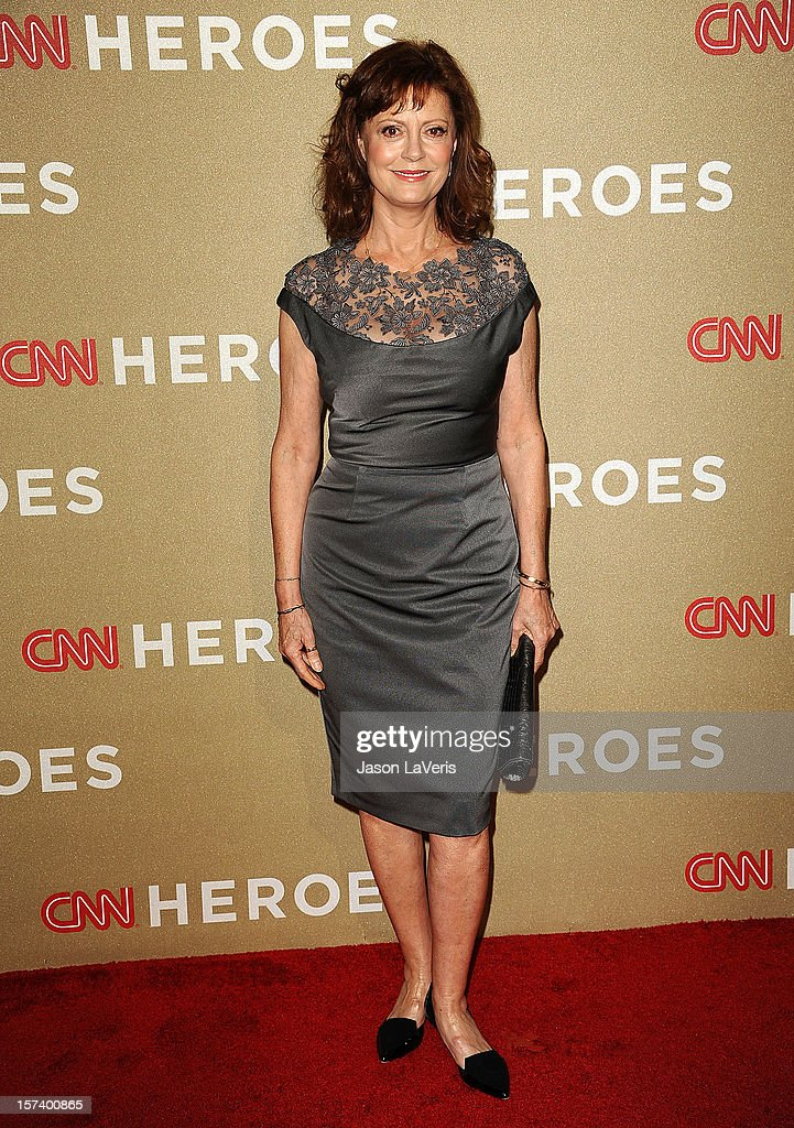 Actress Susan Sarandon attends CNN Heroes: An All-Star Tribute at The Shrine Auditorium on December 2, 2012 in Los Angeles, California.