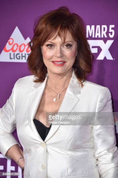 Actress Susan Sarandon attends FX Network's 'Feud Bette and Joan' premiere at Grauman's Chinese Theatre on March 1 2017 in Hollywood California