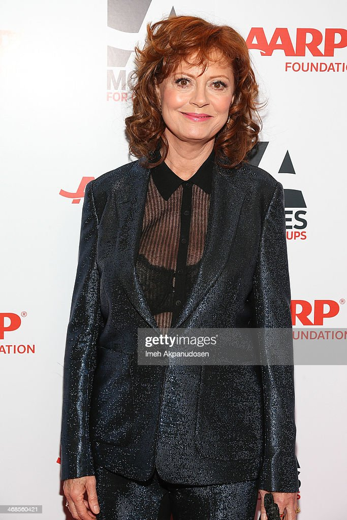 Actress <a gi-track='captionPersonalityLinkClicked' href=/galleries/search?phrase=Susan+Sarandon&family=editorial&specificpeople=202474 ng-click='$event.stopPropagation()'>Susan Sarandon</a> attends the 13th Annual AARP's Movies For Grownups Awards Gala at Regent Beverly Wilshire Hotel on February 10, 2014 in Beverly Hills, California.