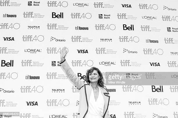 Actress Susan Sarandon attends the 'About Ray' premiere during the 2015 Toronto International Film Festival at the Princess of Wales Theatre on...