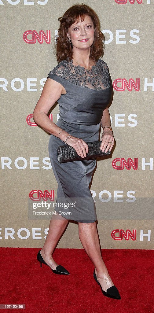 Actress Susan Sarandon attends the CNN Heroes: An All Star Tribute at The Shrine Auditorium on December 2, 2012 in Los Angeles, California.