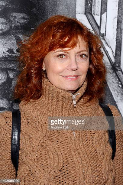Actress Susan Sarandon attends the 'Ellis' New York premiere on October 23 2015 in New York City