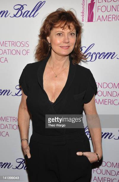 Actress Susan Sarandon attends the Endometriosis Foundation of America's 4th annual Blossom Ball at The New York Public Library Stephen A Schwarzman...