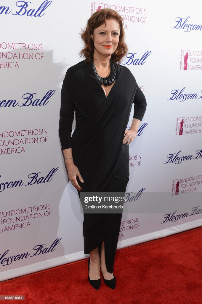 Actress Susan Sarandon attends The Endometriosis Foundation of America's Celebration of The 5th Annual Blossom Ball at Capitale on March 11, 2013 in New York City.
