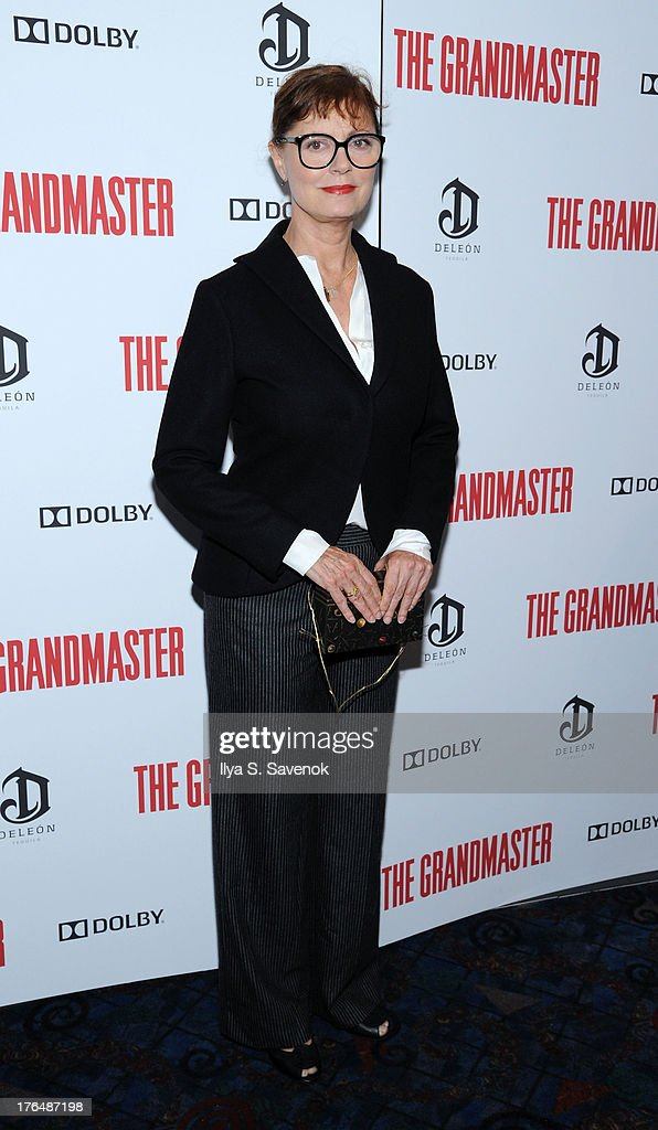 Actress <a gi-track='captionPersonalityLinkClicked' href=/galleries/search?phrase=Susan+Sarandon&family=editorial&specificpeople=202474 ng-click='$event.stopPropagation()'>Susan Sarandon</a> attends 'The Grandmaster' New York Screening at Regal E-Walk Stadium 13 on August 13, 2013 in New York City.