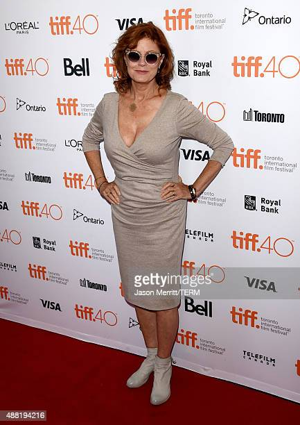 Actress Susan Sarandon attends 'The Meddler' premiere during the 2015 Toronto International Film Festival at the Princess of Wales Theatre on...