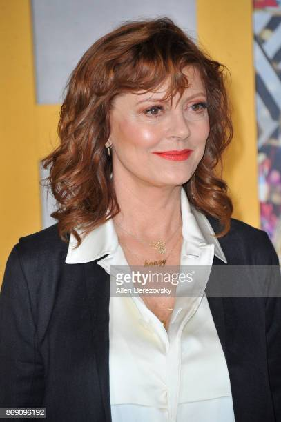 Actress Susan Sarandon attends the premiere of STX Entertainment's 'A Bad Moms Christmas' at Regency Village Theatre on October 30 2017 in Westwood...