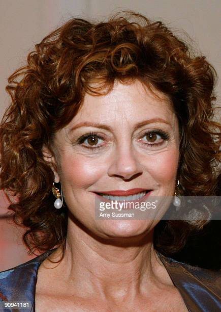 Actress Susan Sarandon attends the Somaly Mam Foundation NYC benefit gala at 583 Park Avenue on September 17 2009 in New York City