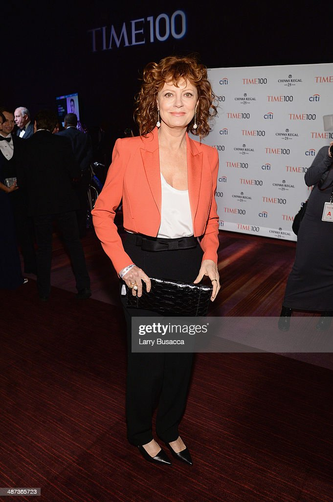 Actress <a gi-track='captionPersonalityLinkClicked' href=/galleries/search?phrase=Susan+Sarandon&family=editorial&specificpeople=202474 ng-click='$event.stopPropagation()'>Susan Sarandon</a> attends the TIME 100 Gala, TIME's 100 most influential people in the world, at Jazz at Lincoln Center on April 29, 2014 in New York City.