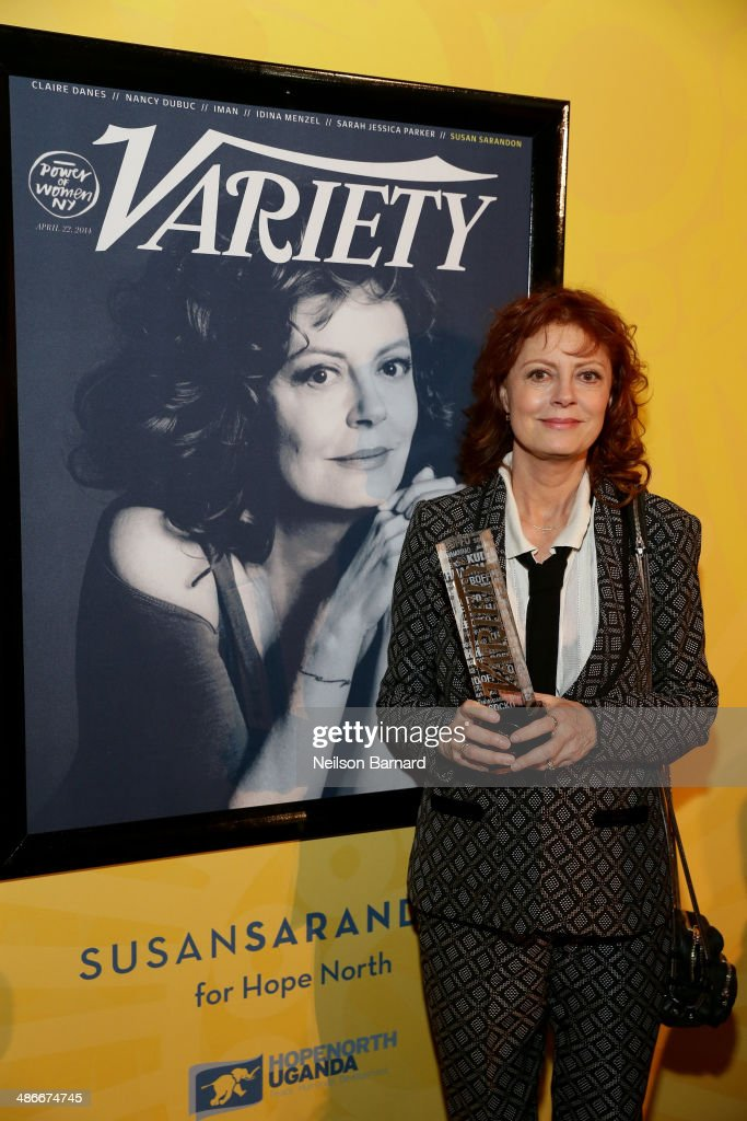 Actress <a gi-track='captionPersonalityLinkClicked' href=/galleries/search?phrase=Susan+Sarandon&family=editorial&specificpeople=202474 ng-click='$event.stopPropagation()'>Susan Sarandon</a> attends Variety Power Of Women: New York presented by FYI at Cipriani 42nd Street on April 25, 2014 in New York City.