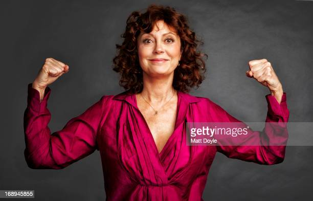Actress Susan Sarandon is photographed for Self Assignment on April 16 2012 in New York City