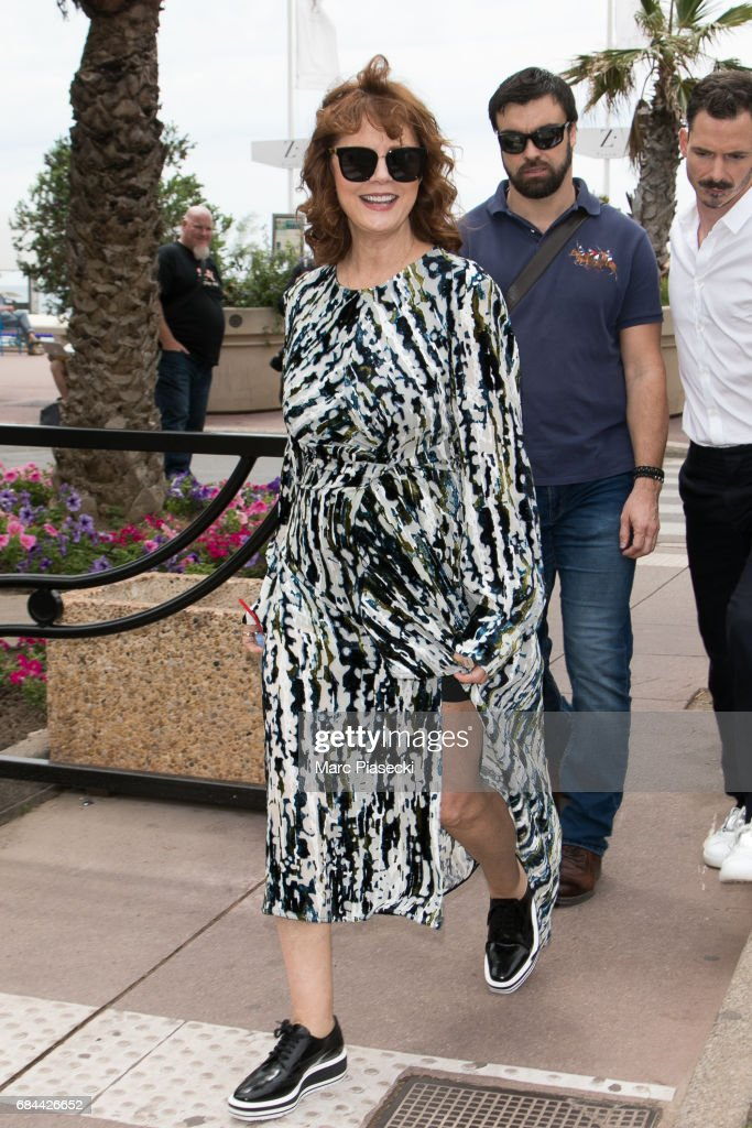 Actress Susan Sarandon is spotted during the 70th annual Cannes Film Festival on May 18, 2017 in Cannes, France.
