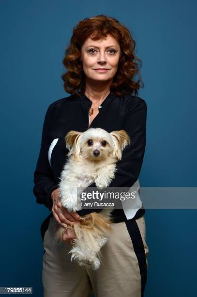 Actress Susan Sarandon of 'The Last Of Robin Hood' poses at the Guess Portrait Studio during 2013 Toronto International Film Festival on September 7...