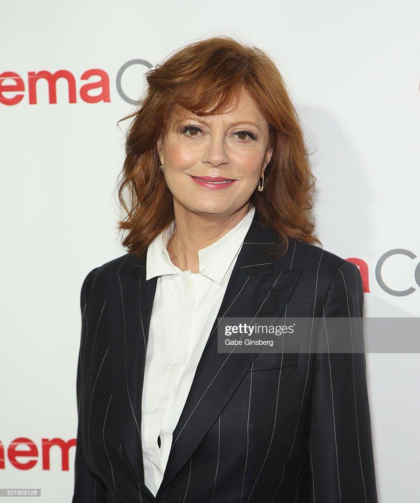 Actress Susan Sarandon recipient of the Cinema Icon Award attends the CinemaCon Big Screen Achievement Awards at Omnia Nightclub at Caesars Palace...