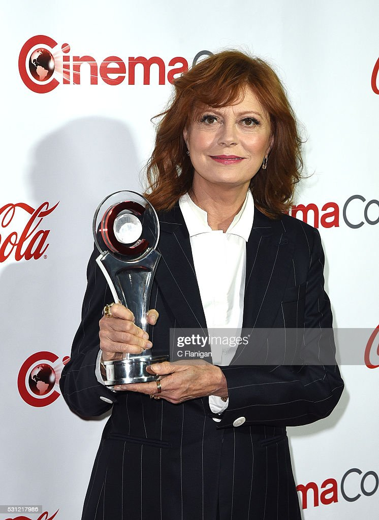 Actress Susan Sarandon, recipient of the Cinema Icon Award, attends the CinemaCon Big Screen Achievement Awards brought to you by the Coca-Cola Company at Omnia Nightclub at Caesars Palace during CinemaCon, the official convention of the National Association of Theatre Owners, on April 14, 2016 in Las Vegas, Nevada.