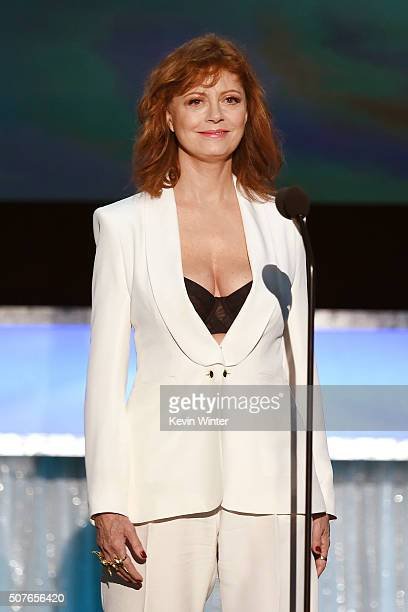 Actress Susan Sarandon speaks onstage during The 22nd Annual Screen Actors Guild Awards at The Shrine Auditorium on January 30 2016 in Los Angeles...