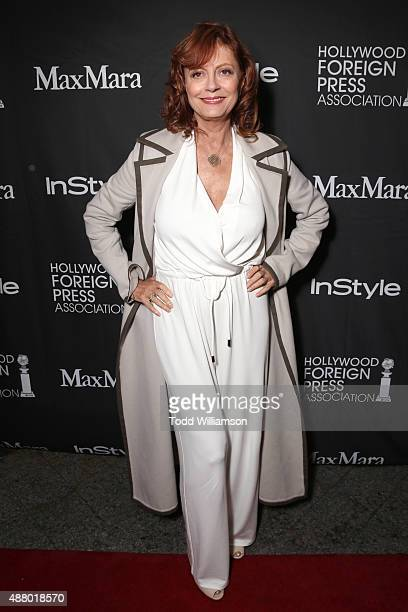 Actress Susan Sarandon wearing Max Mara attends Hollywood Foreign Press Association InStyle's annual celebration of The Toronto International Film...