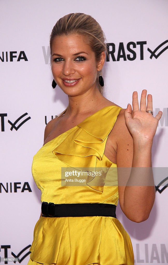 Actress Susan Sideropoulos arrives to the 'William Rast' fashion show during the Bread and Butter fashion trade fair at the Silver Wings Club on July 1, 2009 in Berlin, Germany.