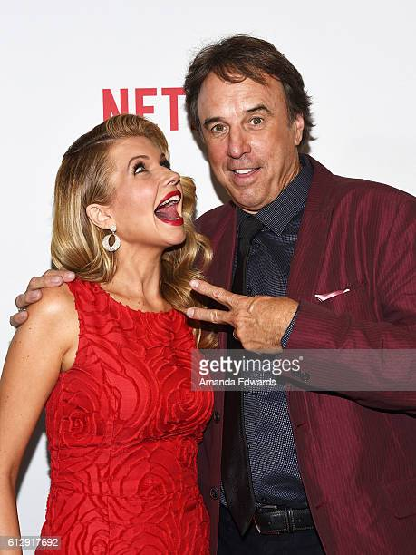 Actress Susan Yeagley and actor Kevin Nealon arrive at a screening of Netflix's 'Mascots' at the Linwood Dunn Theater on October 5 2016 in Los...