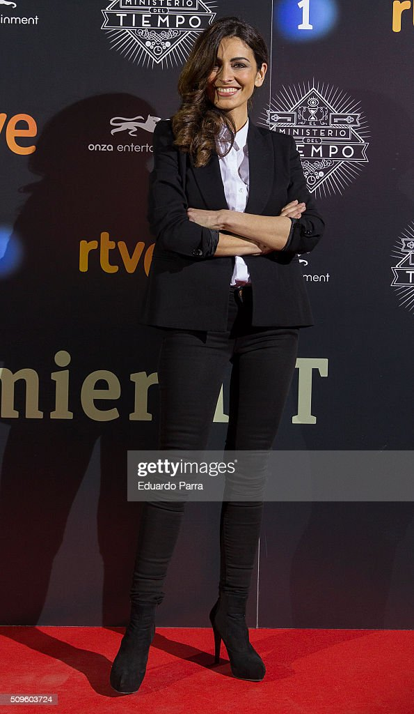 Actress Susana Cordoba attends 'El Ministerio del Tiempo' second season premiere at Capitol cinema on February 11, 2016 in Madrid, Spain.
