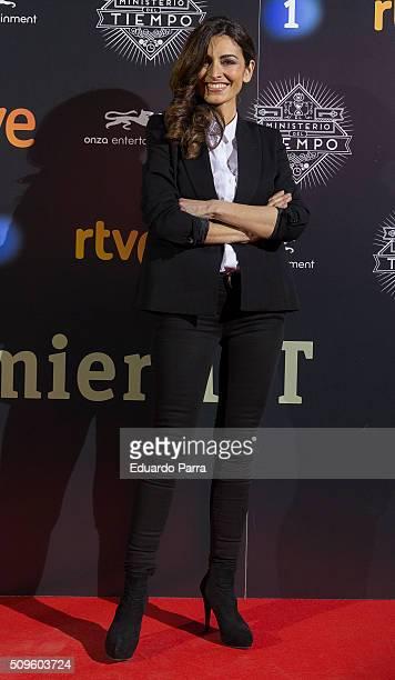 Actress Susana Cordoba attends 'El Ministerio del Tiempo' second season premiere at Capitol cinema on February 11 2016 in Madrid Spain