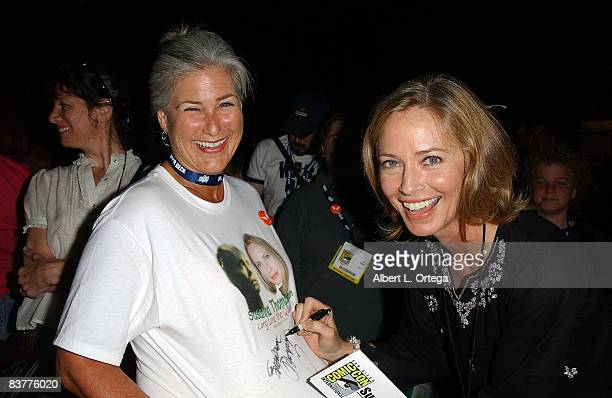 Actress Susanna Thompson attends the 2008 ComicCon International on July 24 2008 at the San Diego Convention Center in San Diego California