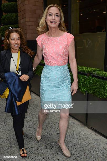 Actress Susanna Thompson leaves her Midtown Manhattan hotel on May 16 2013 in New York City