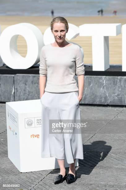 Actress Susanne Wuest attends to Licht/Madmoiselle Paradis' Photocall 65th San Sebastian Film Festival on September 25 2017 in San Sebastian Spain