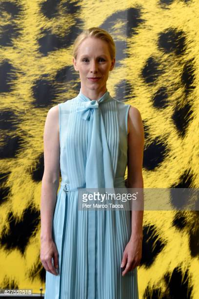 Actress Susanne Wuest poses during the 'Iceman' photocall at the 70th Locarno Film Festival on August 8 2017 in Locarno Switzerland