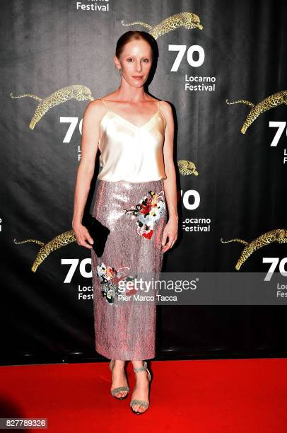 Actress Susanne Wuest poses during the 'Iceman' premiere at the 70th Locarno Film Festival on August 8 2017 in Locarno Switzerland
