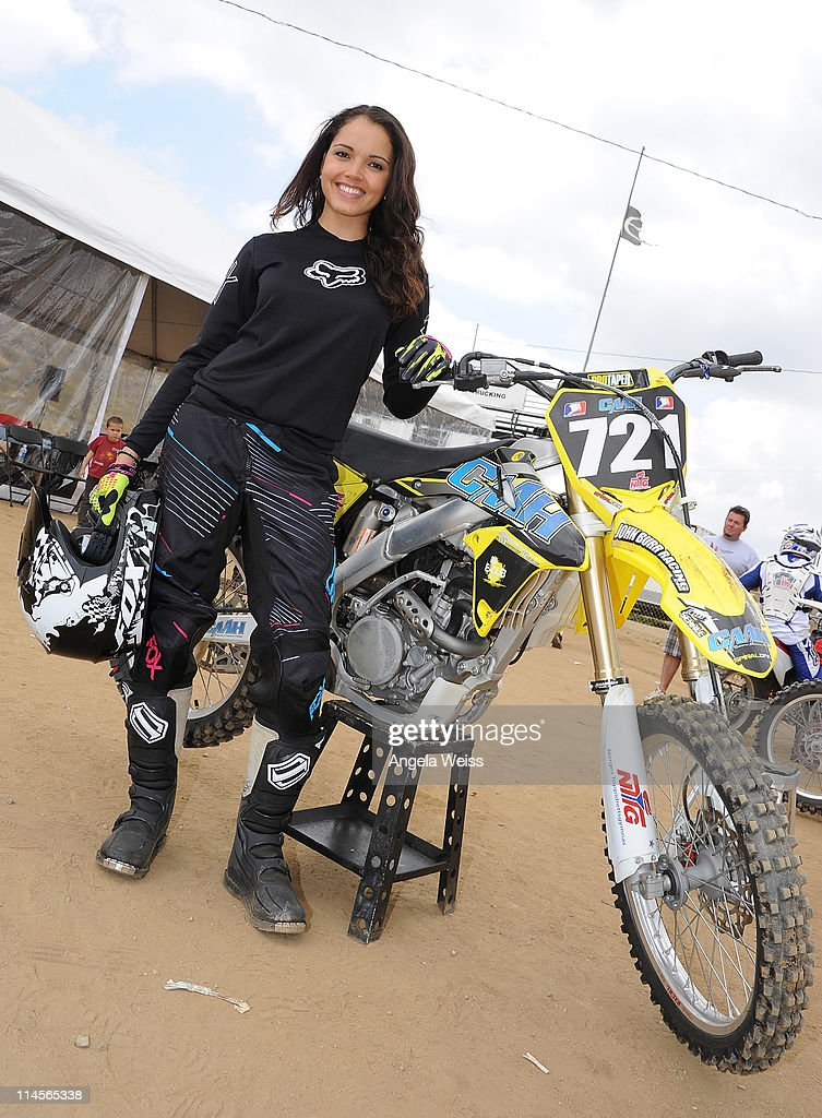 Actress Susie Castillo attends Oakley's Learn To Ride Motocross event at Stawest MX Track on May 23, 2011 in Lake Perris, California.