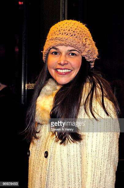 Actress Sutton Foster attends the opening night of 'Present Laughter' on Broadway at the American Airlines Theatre on January 21 2010 in New York City