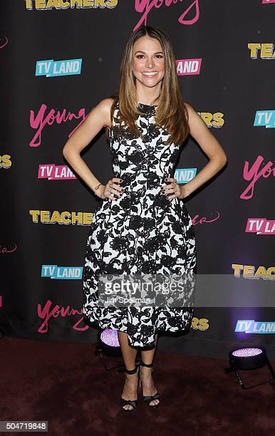Actress Sutton Foster attends the 'Younger' season 2 and 'Teachers' series premiere at The NoMad Hotel on January 12 2016 in New York City