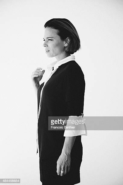 Actress Suzanne Clement is photographed for Self Assignment on August 4 2014 in Paris France