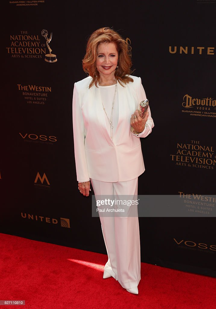 Actress <a gi-track='captionPersonalityLinkClicked' href=/galleries/search?phrase=Suzanne+Rogers+-+Actress&family=editorial&specificpeople=13902592 ng-click='$event.stopPropagation()'>Suzanne Rogers</a> attends the 2016 Daytime Emmy Awards at The Westin Bonaventure Hotel on May 1, 2016 in Los Angeles, California.