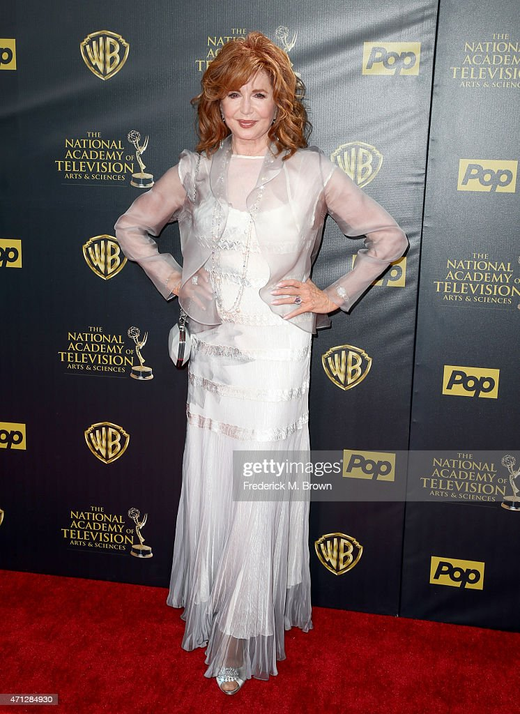 Actress <a gi-track='captionPersonalityLinkClicked' href=/galleries/search?phrase=Suzanne+Rogers+-+Actress&family=editorial&specificpeople=13902592 ng-click='$event.stopPropagation()'>Suzanne Rogers</a> attends The 42nd Annual Daytime Emmy Awards at Warner Bros. Studios on April 26, 2015 in Burbank, California.